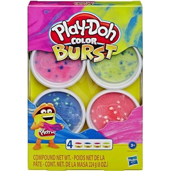 Hasbro - Play-Doh: Színbomba 4db-os gyurma (E6966/E8060)