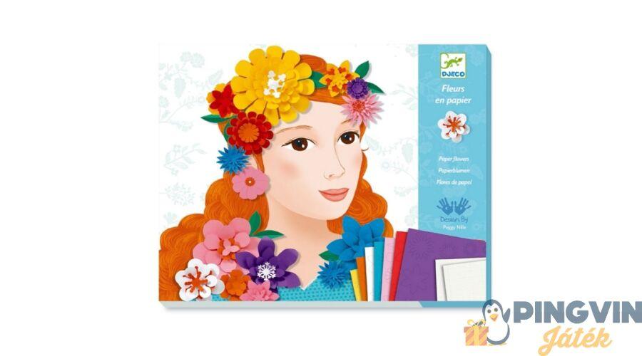 961c0c26b92a Djeco - Papír virágok képkészítő 9439 - 3.990 Ft - Homokkép készítő ...