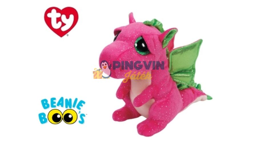 Plüss figura Beanie Boos - 15cm Darla rózsaszín sárkány 37173 ... 59350179b0